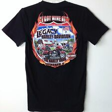 Harley Davidson Motorcycles Mens S Small T Shirt 2010 Black Legacy Effingham IL