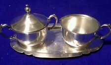 Silverplate Creamer/Sugar Bowl Set