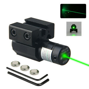Tactical Green Red Laser Beam Dot Sight Scope For Gun Rail Pistol Weaver 11/20mm