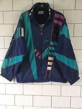 Unisex Vieja Escuela Vintage Retro 80S Crazy Bold shellsuit Hermosa Chaqueta #117