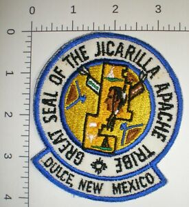 NM New Mexico JICARILLA APACHE Indian Tribe DULCE POLICE vintage tribal patch