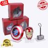 Avengers Iron Man MK43 LED Light Base Helmet Captain America Shield Thor Hammer
