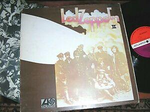 LED ZEPPELIN  -     Led Zeppelin II,      RARE ORIG 1969 UK PLUM/RED LP / inner