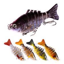 "5pc 7 Section Fishing Lure 10cm/4"" Swimbait Fishing bait 6#  Hook Fishing Tackle"