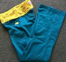 Nwt Nike Girls Ylg Tropical Teal/Yellow Yoga Style Graphic Leggings Large