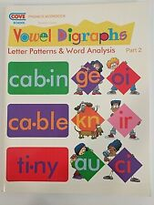 Cove School Vowel Digraphs Part 2 phonics teacher workbook guide read homeschool