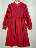 Vintage Vanity Fair Medium Fleece Velour Velvet Robe Wine Burgundy Embroidered