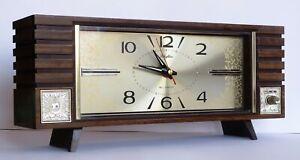 Vintage Rhythm Bell & Music Alarm Clock Retro Japan Musical Moon River A-NO.5867