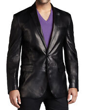 Men's Stylish Genuine Lambskin Real Leather Two Button Blazer Coat MB 25