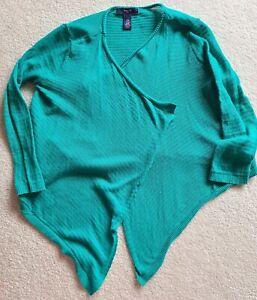 GAP Kids Girls XS 5/6 Open Turquoise Cardigan Sweater Light weight