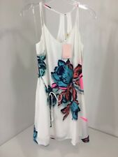 PINK OWL WOMEN'S FLORAL CAMI DRESS WHITE/MULTICOLOR SMALL NWT