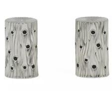 L' Objet Bois De Platine Lobjet Salt And Pepper Shakers Set Silver New In Box!