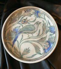 "Pottery Barn Iznik Plate 8 3/4"" Bird Floral Crackle Tapas Salad HTF"