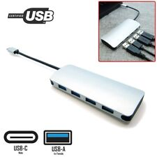 USB-C Type C Male to 4x USB Type A 3.0 Female 4-Port Hub Adapter MacBook Dongle