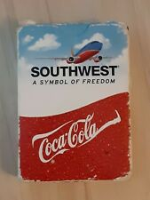 Southwest Airlines Coca Cola Playing Cards Complete Dec Logos Well Used Cards