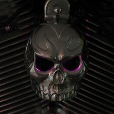 Skull horn cover. Polished aluminum with back lit LED eyes. Harley Davidson TAL3
