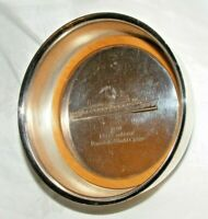 VINTAGE 1980 P&O CANBERRA CRUISE SHIP SILVER PLATED BOTTLE COASTER COMMEMORATIVE