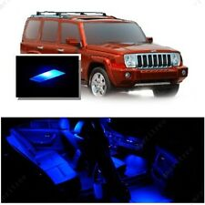 For Jeep Commander 2006-2010 Blue LED Interior Kit + Blue License Light LED