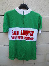 VINTAGE Maillot cycliste CYCLO GERMANAIS Le Roc Roger Baudron jersey maglia S/M