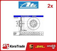 2x 24-0122-0241-1 ATE OE QUALITY BRAKE DISC SET