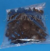 "40 Pc Universal Black Nylon Retainer 3/8"" 9.5mm Head 1""Hole Size Fit GM 1619321"