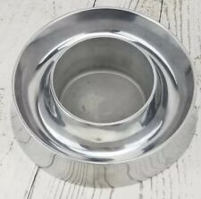 """Axis by Mikasa Olive Dip Dish  STAINLESS STEEL Kitchen Dish 7.5"""" Party Tray"""