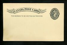 Postal Stationery Canada H&G #14 Uni #Ux14 postal card pre printed 1893