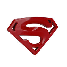 1pc RED Superman Logo Sticker Badge Emblem Decals 3D Chrome Metal Car sticker