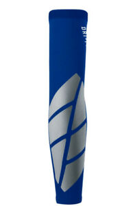 NIKE Pro Vapor Forearm Slider 2 Baseball Arm Sleeve Royal Blue Silver Mens L XL
