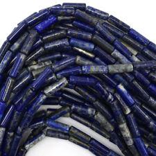 "13mm natural blue lapis lazuli tube beads 15.5"" strand"