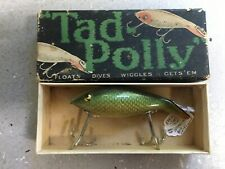 Vintage Heddon Tad Polly Fishing Lure with Original Baby Tad Polly Box