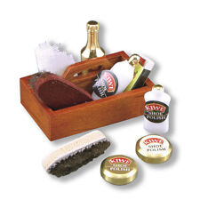Reutter Porzellan Schuhputzset / Shoe Shine Kit Puppenstube 1:12 Art 1.404/8