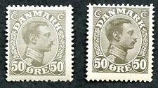 Denmark Sc #122 (Mlh) & 122a (Mhr), 2017 Scv $84.25