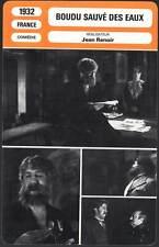 BOUDU SAUVE DES EAUX - Simon,Renoir(Fiche Cinéma)1932  Boudu saved from Drowning