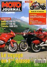 MOTO JOURNAL 1142 YAMAHA GTS 1000 BMW K R 1100 RS HONDA RC 45 Grand Prix 1994
