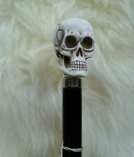 SKULL HEAD WALKING STICK CANE BLACK