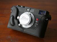 *New* Zhou Black Half Case f/ Minolta CLE Leica M Mount