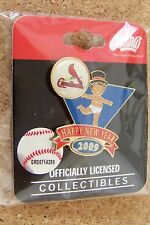 2009 St. Louis Cardinals Baby New Years lapel pin MLB