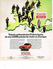 PUBLICITE ADVERTISING  1975   TOYOTA SERVICE     les points de vente