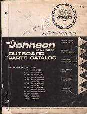 1972 JOHNSON OUTBOARD 2,4,6,9.5,20,25,40,50,65,85,100, & 125 PARTS MANUAL (755)