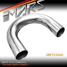 "MARS 2.5"" 180 Degrees Mandrel Bend polished stainless steel pipe Exhaust Muffler"