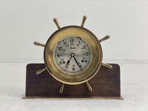 Boston Brass Chelsea Ship Wheel Clock (38802-1)