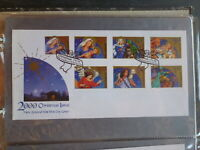 NEW ZEALAND 2000 CHRISTMAS SET 7 STAMPS FDC FIRST DAY COVER