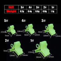 100x Assorted Fishing Treble Hooks Safety Covers Bonnets Fishhook Caps Outdoor