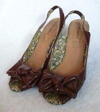 Atmosphere Patternless Peep Toe Casual Heels for Women
