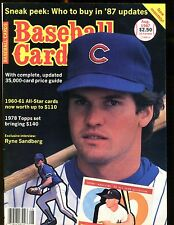 Baseball Cards Magazine August 1987 Ryne Sandberg jhscd3
