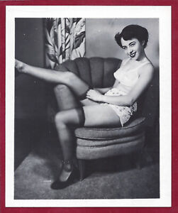 1950s Vintage Risque Photo~Perfect Firm Perky Body Pinup in Lingerie & Stockings