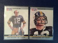 1990 Pro Set  Terry Bradshaw Super Bowl MVP Pittsburgh Steelers Lot of 2  NM/MT+