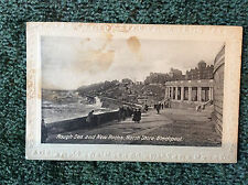 Vintage postcard: Lancashire, Blackpool, North Shore rough sea & new rocks 1925