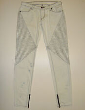 """STUNNING SASS&BIDE BLEACHED BLUE WASH SKINNY JEANS 28 """"NEVER NUMBER"""" Loveshady"""